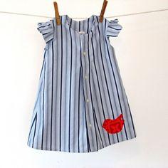 Herrenhemd in Ihr Babymädchen Kleid Eco-Mode für von allthenumbers