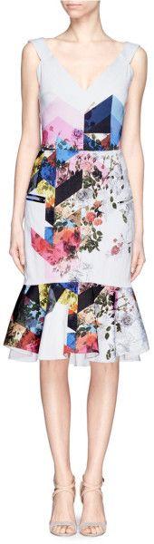 Love this: Floral Collage Print Mermaid Dress @Lyst