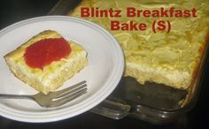 LOW CARB: Cheese Blintz Breakfast Cake recipe - from Beneath the Couch Cushions