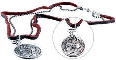 Halskette mit Anhänger ''Dead King'', Leder, Metall, Ø 32 mm in Uhren & Schmuck, Modeschmuck, Halsketten & Anhänger | eBay