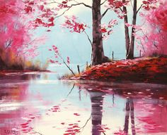 Graham Gercken, Australian Impressionist landscape painter, b. 1960 #nature #pink #beautiful #art #painting #impressionism