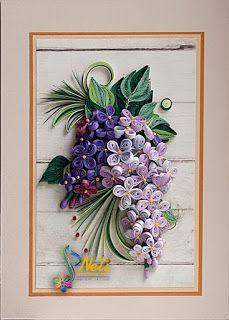 Neli Quilling Art: Тhe scent of lilac (18 сm - 13 cm )