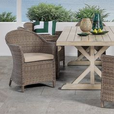 Complete your outdoor area with classic and sophisticated Majorca 9 Piece Outdoor Dining Suite #AmartFurniture