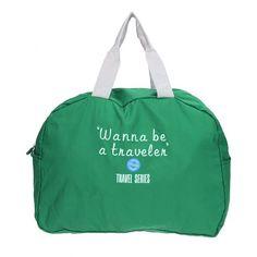 "Waterproof travel bag - handluggage ""Wanna be a traveler"""