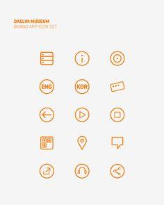 Daelim Museum Mobile App by Jason Jun, via Behance