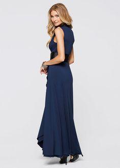 Dzsörzé ruha • sötétkék/fekete • bonprix áruház