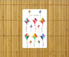 Liven up your summer spread with these great Kite Stickers by MioCartaPesta.