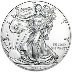 Coin: 2016 - 1 Ounce American Silver Eagle Low Flat Rate Shipping .999 Fine Silver Dollar Uncirculated Us Mint