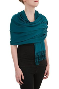 Opulent Luxury Pashmina Cashmere Scarf Shawl Wrap Embellished with Healing Swarovski Crystal Teal Green 80 x 30 *** Find out more about the great product at the image link.