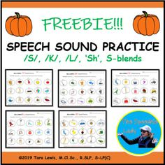 Here is a Halloween-themed freebie created for students to practice speech sounds. These pages can be used as play dough … Halloween Speech Therapy Activities, Preschool Speech Therapy, Articulation Therapy, Articulation Activities, Spelling Activities, Speech Activities, Speech Pathology, Speech Language Pathology, Language Activities