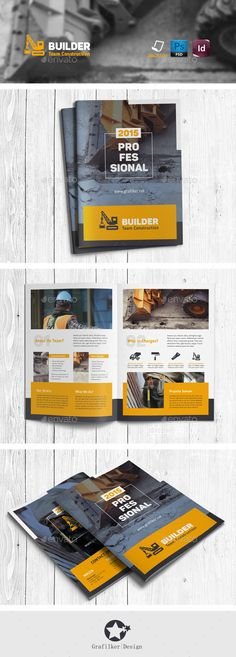 Construction Company Brochure Brochure Template Brochures And Minimal