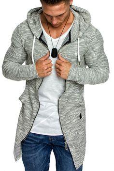 Amaci&Sons Herren Kapuzenpullover Zipper Sweatshirt Hoodie Sweatjacke Pullover 4016 Grau M: Amazon.de: Bekleidung
