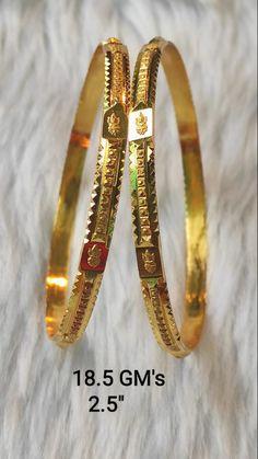 Gold Chain Design, Gold Bangles Design, Gold Earrings Designs, Gold Jewellery Design, Plain Gold Bangles, Gold Temple Jewellery, Gold Jewelry Simple, Anklet, Blouse