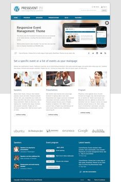 An amazing event management WordPress theme by Virusnac.