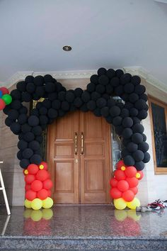 Mickey Mouse Balloon Archway from a Mickey Mouse Clubhouse Themed Birthday Party via Kara's Party Ideas | KarasPartyIdeas.com (5)