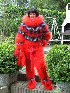 Gros Pull Mohair, Angora, Catsuit, Put On, Knitwear, Fur Coat, Pajamas, Cozy, Knitting