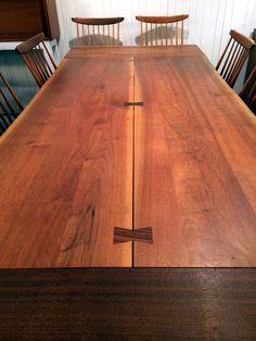 Walnut Rosewood Dining Table Extension George Nakashima | From a unique collection of antique and modern dining room tables at https://www.1stdibs.com/furniture/tables/dining-room-tables/