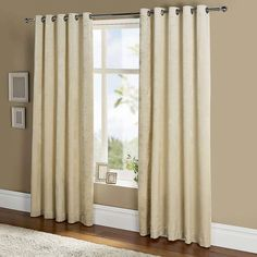 Featuring a beautiful floral design in a natural colourway, this pair of embossed velour curtains from the Serena collection are crafted from polyester with a t. Kids Curtains, Cool Curtains, Panel Curtains, Blackout Eyelet Curtains, Curtains Dunelm, Feminine Decor, Have A Good Sleep, Trellis Design, Staircase Design