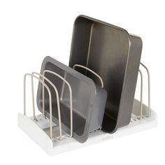 Howards Storage World | StoreMore Bakeware Rack *no more slipping and sliding in the cupboards #howardsstorage #christmaswishlist