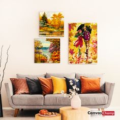 Get best idea about how to hang your favorite canvas prints on the wall with different hanging hardware to display your own wall art at home or office. Custom Canvas Prints, Large Canvas, Photo Canvas, Hanging Wire, Wall Art, Fall, Check, Artwork, Blog