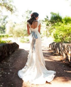 The back of this gown is stunning