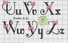 Embroidery Alphabet, Cross Stitch Alphabet, Embroidery Patterns, Cross Stitch Patterns, Pixel Art, Perler Beads, Free Crochet, Free Pattern, Bullet Journal