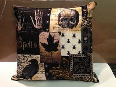 Gothic  Halloween Throw Pillows set of 2  Pillows by WickedCrusade, $30.00