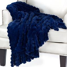Omni Throw from Z Gallerie (Bedroom throw, rich sapphire makes is classy and beautiful! Navy Blue Throw Pillows, Blue Throws, Blue Blanket, Affordable Modern Furniture, Luxury Decor, Home Decor Store, Bed Design, Decoration, Luxury Bedding