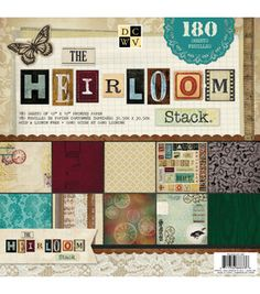 DCWV Paper Stack Heirloom 60 Designs 3 Each 180 Sheets. Perfect for all  your paper crafting needs! This package contains 180 single- sided inch  sheets in ... 8d6152c563