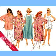 796 Butterick 3915 Plus Size Maternity Dress Shirt / Overshirt Pullover Jumper Top Pants Shorts size L XL 16-18 20-22 Vintage Sewing Pattern by ladydiamond46 on Etsy