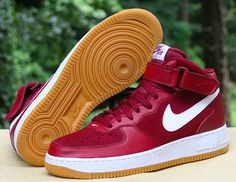 competitive price 28226 2308d Nike Air Force 1 Mid  07 Team Red White Gum Bottom 315123-608 Men s Size 9