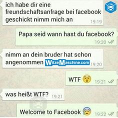 Lustige WhatsApp Bilder und Chat Fails 211 - WTF- Papa ist auf Facebook