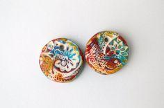 Festive Ceramic Earring Beads Handmade by ARETObeadsjewellery