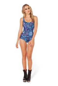 LTS Midnight Owl Swimsuit by Black Milk Clothing Monokini Swimsuits, Swimwear, Black Milk Clothing, Long Torso, Best Leggings, Beachwear For Women, Black Swimsuit, My Black, Printed Leggings