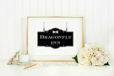Dragonfly Inn Gilmore Girls, Sign, Logo, 8x10, Printable, Download, Digital Print by KaysVoicePrintables on Etsy (null)
