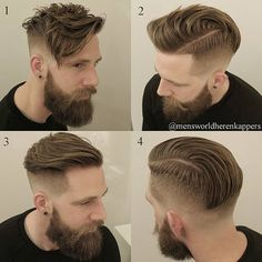 "895 Likes, 20 Comments - Men's World Herenkappers⚪ (@mensworldherenkappers) on Instagram: ""1 haircut, 3 styles...#Undercut #Hairstyles ✅ Product used for all hairstyles : Shaper from…"""