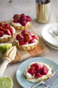 Strawberry and Lime tartlets :) mmm