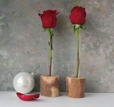 Test tube Vase Rustic Bud Vase Set of Two flower by LynettesArt