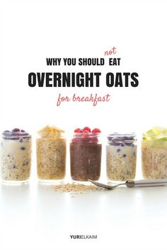 This Is Why You Should Not Eat Overnight Oats in the Morning - but maybe a high carb breakfast before hitting the trail is exactly what you need. Gourmet Recipes, Real Food Recipes, Yummy Food, Healthy Recipes, Oatmeal Recipes, Healthy Breakfasts, Healthy Kids, Healthy Food, Healthy Living