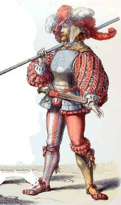 Landsknecht 30jarig oorlog modeprent.jpg