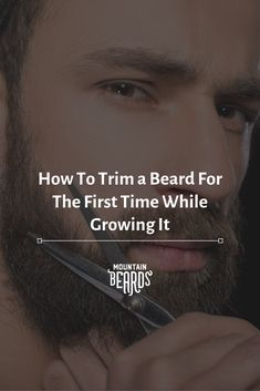 If you're curious how to trim a medium beard or how to trim a long beard, the basics are going to remain the same. However, if you're dealing with a short beard, then you're going to have to make some adjustments. Beard Trimming Guide, Beard Trimming Styles, Beard Styles For Men, Hair And Beard Styles, Beard Growth Tips, Beard Hair Growth, Trim Beard Neckline, New Beard Look, Beard Grooming