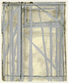"""Untitled  Richard Diebenkorn (American, 1922–1993)    1970. Charcoal, gouache, and watercolor on paper, 23 3/8 x 19"""" (59.4 x 48.3 cm). The Judith Rothschild Foundation Contemporary Drawings Collection Gift. © 2012 Richard Diebenkorn"""