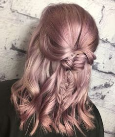 Lovely lilac, pretty pastel hair colour and fishtail braid by Voodou Megan at our Bold Street hair colour specialist salon   Book now at voodou.co.uk  #pastelhair #lilachair #lavenderhair #hairgoals