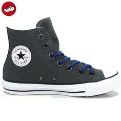 Damen Schuhe All Star Hi Suede Grau 132119C Chucks Sneakers Leder Dunkelgrau Größe 36,5 Converse