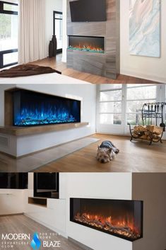 Multicolor flame fireplaces have a very modern look and definitely become a centerpiece in any contemporary decor. Bioethanol Fireplace, Modern Fireplace, Gas Fireplace, Electric Fireplaces, Fireplace Inserts, Contemporary Decor, Centerpiece, Wood, Stuff To Buy