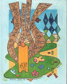 Gerald Shepherd: Young Girl In A Meadow