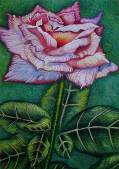 A Rose By Any Other Name by Patt Blair.  Pigment inks and Heliograhic paints on cotton. Flower art quilt.