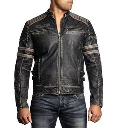 Affliction Leather Jacket American Custom Patch Artwork with Black and Charcoal Embroidery Moto Fit Black Vapor Wash Cow Hide Leather Machine Wash Cold Distressed Leather Jacket, Men's Leather Jacket, Leather Men, Moto Jacket, Affliction Clothing, Best Leather Jackets, Men's Coats And Jackets, Leather Fashion, Men's Fashion