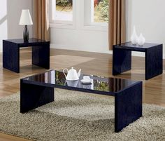 coffee+tables+and+end+tables+at+aaron's   Modern Glass Coffee Table Set With One Coffee Table And Two End Tables ...