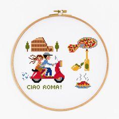 Ciao Roma Cross Stitch Pattern